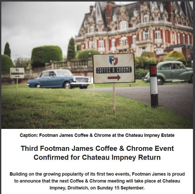 Footman James Coffee Chrome 2019 - Click Here