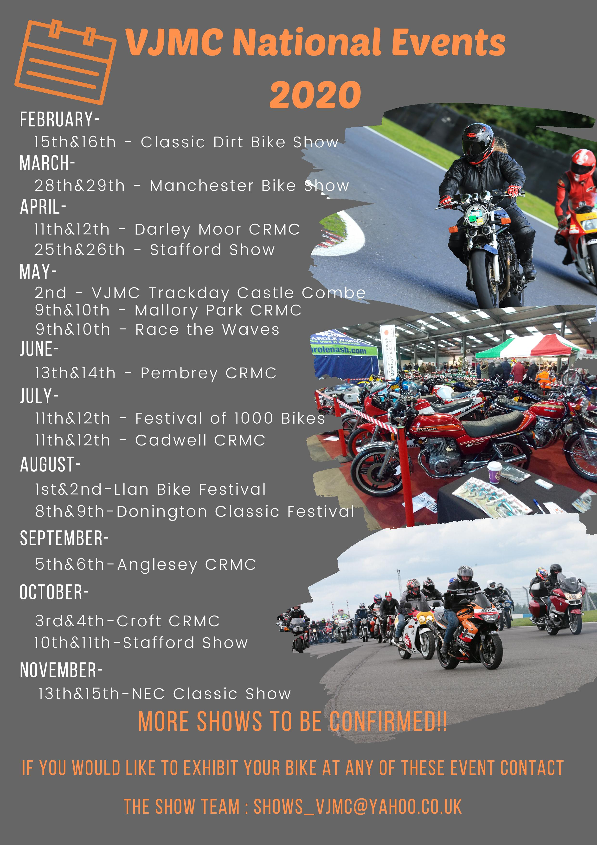 VJMC National Events 2020