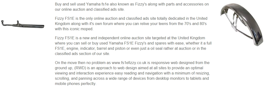 FS1e Fizzy Parts for sale and wanted