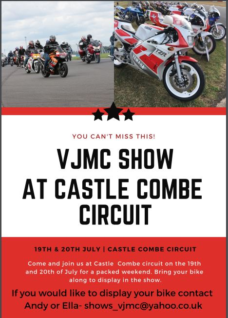 VJMC Track Day and Show 19-20th July 2019